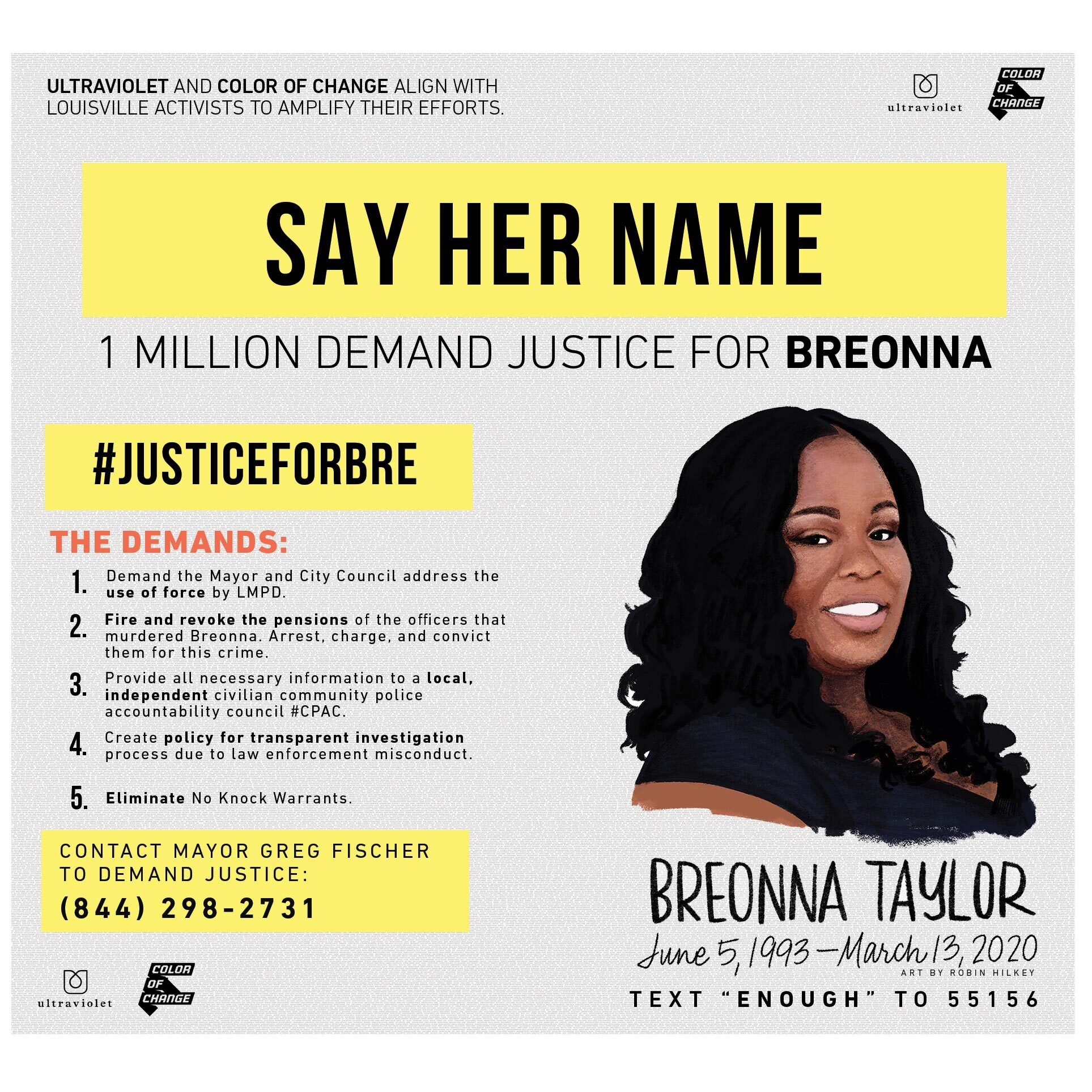 Louisville Courier Journal Centerfold To Declare Breonna Was Essential Demands Accountability For The Police Murder Of Breonna Taylor We Are Ultraviolet